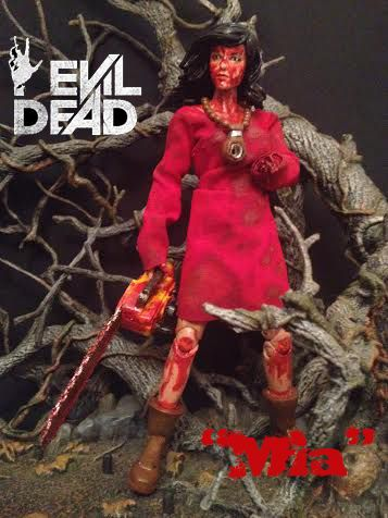 2 featured items mia evil dead custom action figure custom hot wheels olds package of movie metal from evil dead