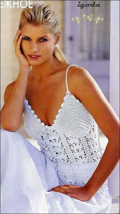 Musculosa crochet dama