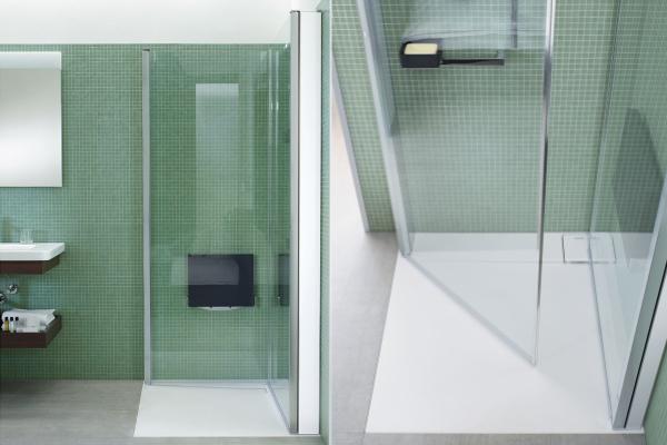 Spazi ridotti in bagno l 39 utilizzo di forme semplici e - Bagno stretto e lungo con doccia ...