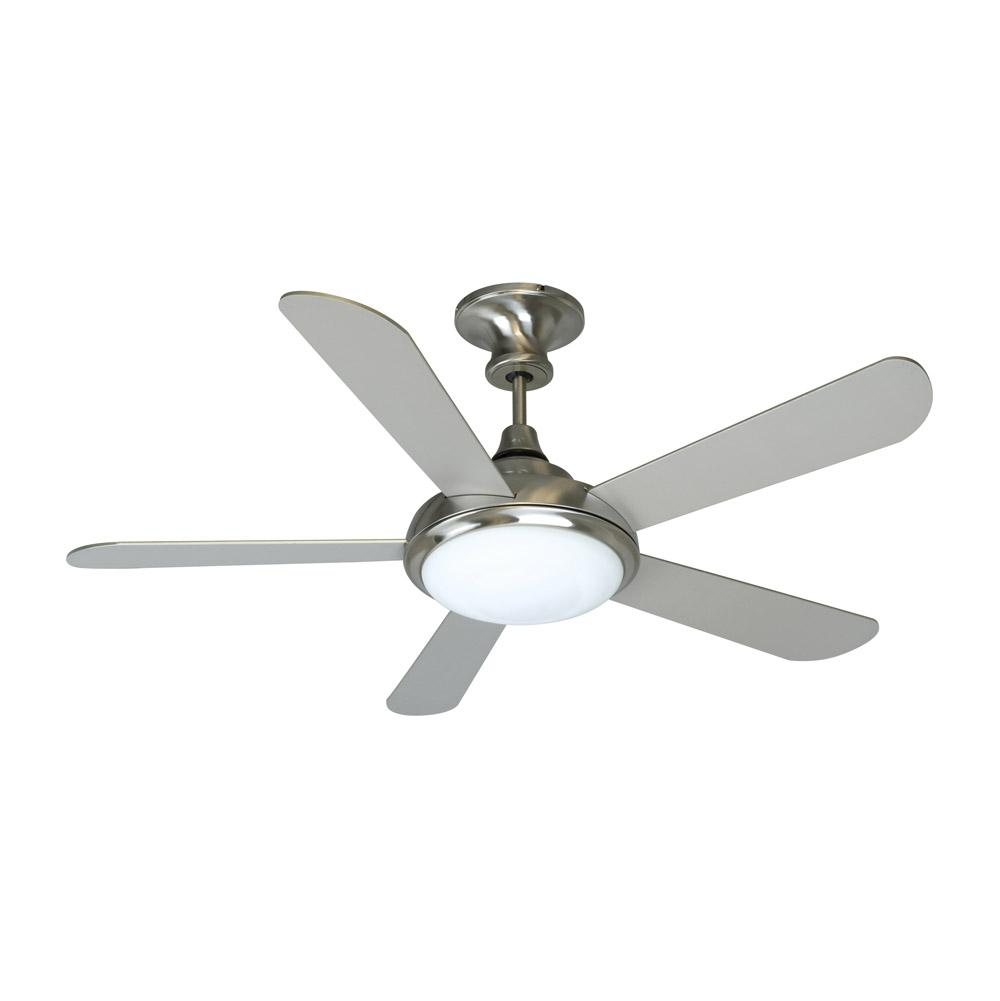Stainless steel ceiling fans with lights ebay