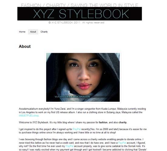 Blog Yuna Zarai - Fesyen dan Kerja Amal