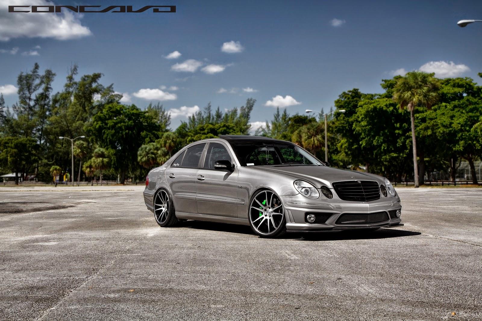 Mercedes Benz W211 E500 On Concavo Cw 5s Benztuning