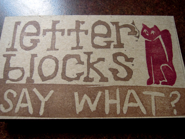 letter blocks say what