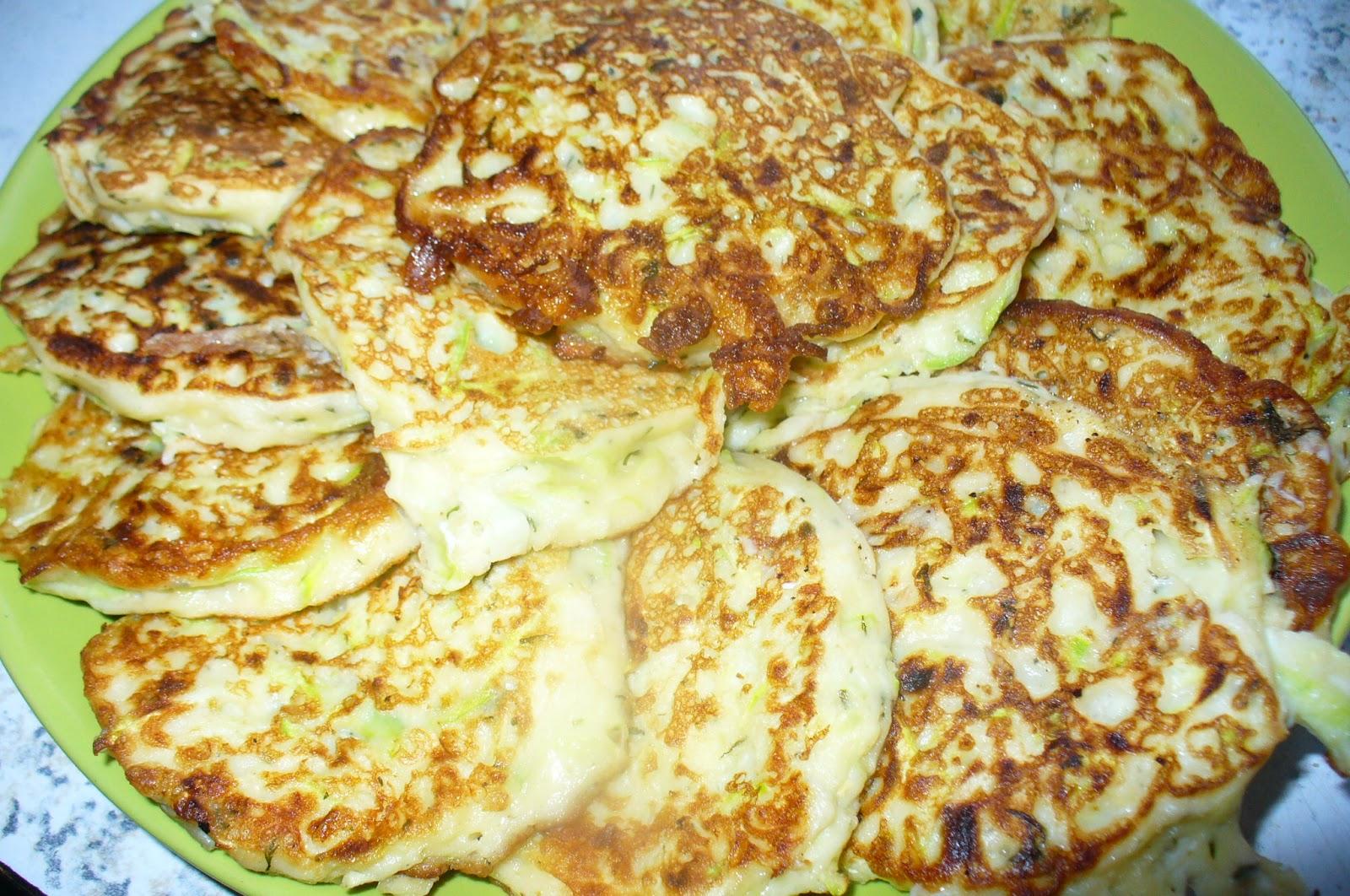 оладьи из кабачков с творогом готовые