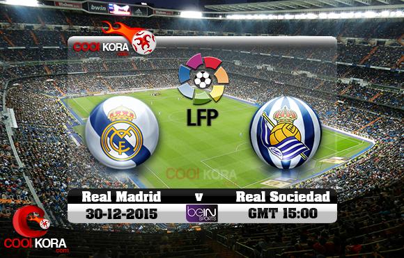 مشاهدة مباراة ريال مدريد وريال سوسيداد اليوم 30-12-2015 في الدوري الأسباني