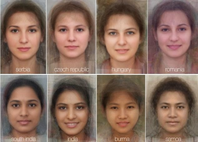Scientists Blend Thousands of Faces Together to Reveal what the Typical Woman's Face Looks like in 41 Different Countries from Around the Globe