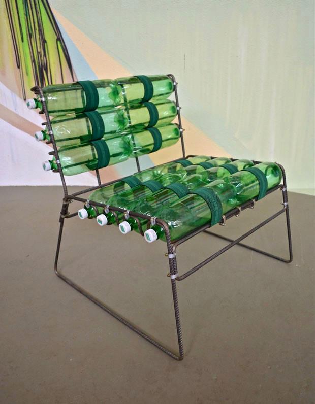 ideas para la casa y el jardin ♥: Silla con botellas de refrescos