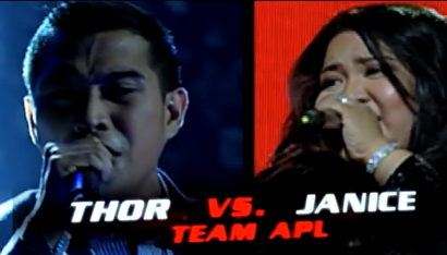 Thor Dulay and Janice Javier - Team Apl of The Voice of the Philippines