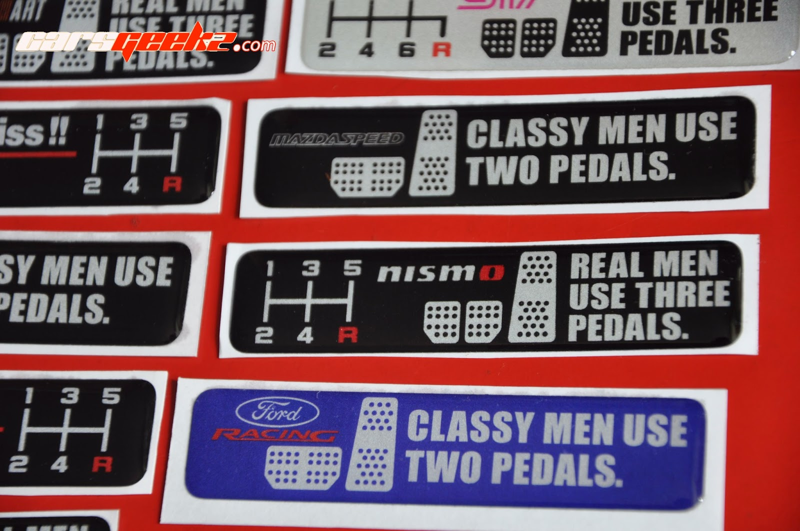 nismo - mazda speed sticker - epoxy sticker