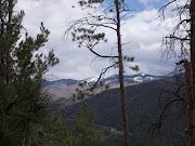 From the summit, we had great views looking north toward the Ski Santa Fe .