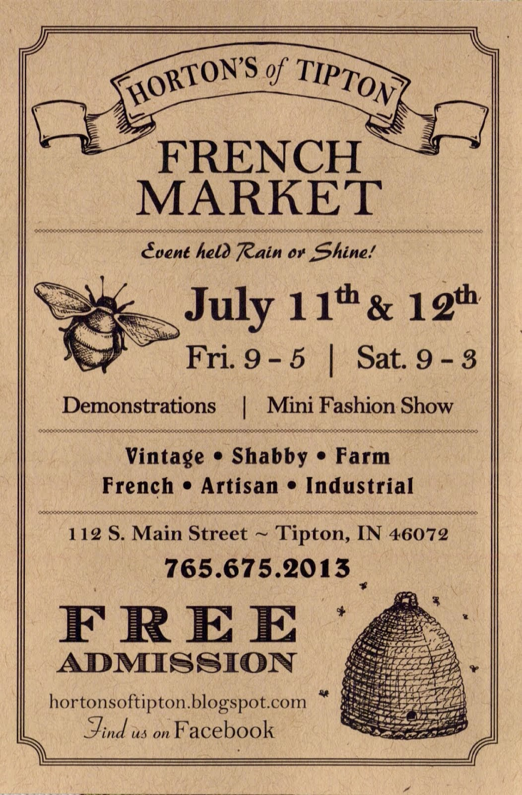 Our 6th Annual French Market