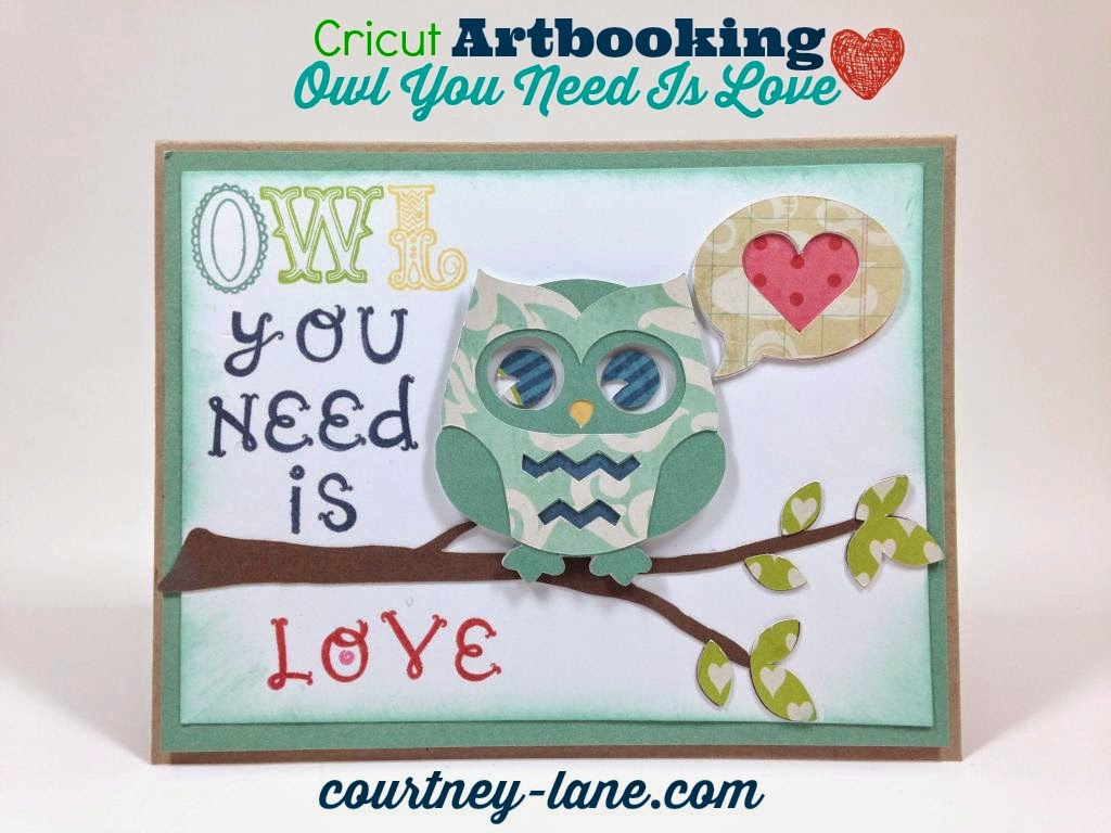 Cricut Artbooking Owl Love card