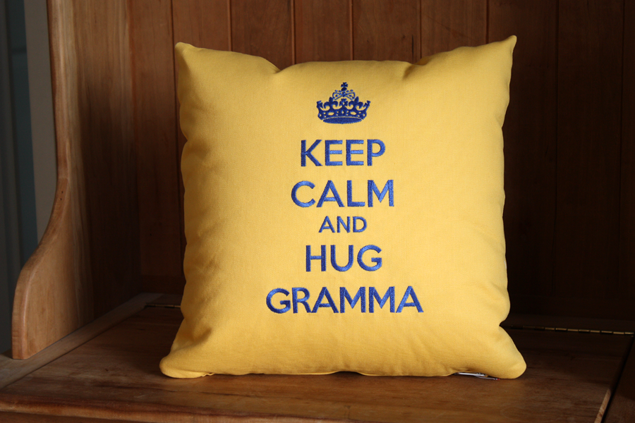 Design Your Own Keep Calm Pillow COVER | 16 x 16 inches | Belinda Lee Designs
