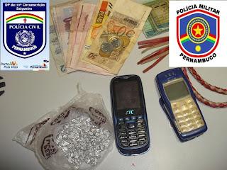 Operação integrada prende traficante com 82 pedras de crack em Salgueiro