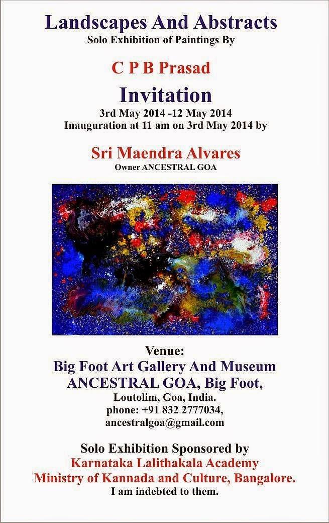 C p b prasad professional artist invitation solo exhibition of paintings stopboris Choice Image