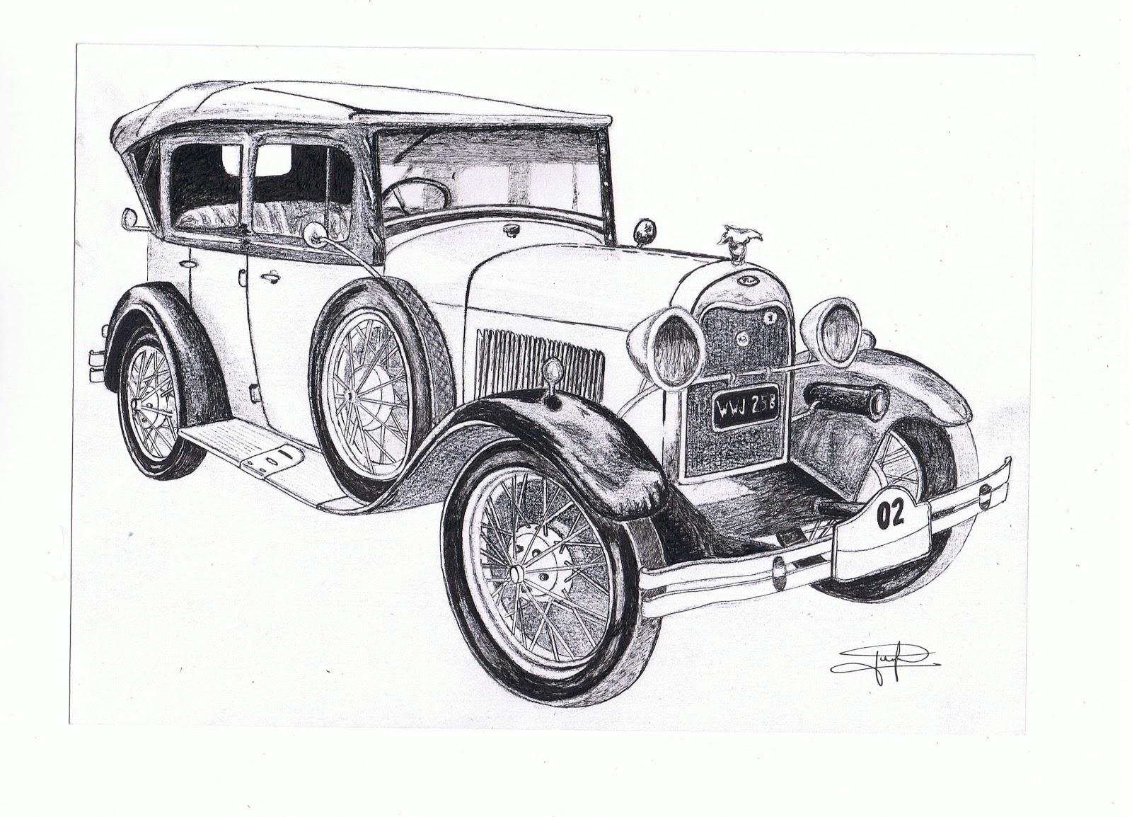 Dibujos de coches antiguos - Imagui