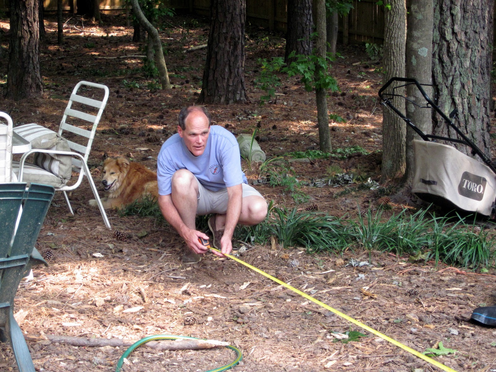 a peachtree city life: Checking Elevation with a Garden Hose ...