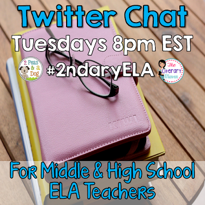 Join secondary English Language Arts teachers Tuesday evenings at 8 pm EST on Twitter.