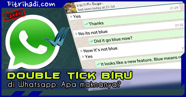 (Info) Apa Fungsi atau Makna Double Tick Biru di Whatsapp 2