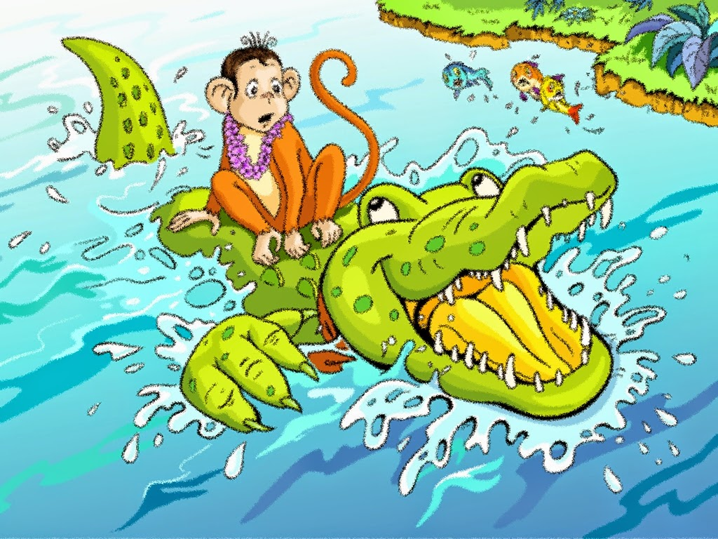 the monkey and the crocodile short story with moral