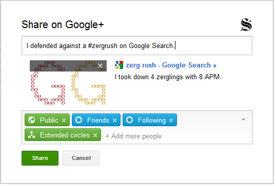 Zerg Rush Is Google's New Easter Egg To Play With