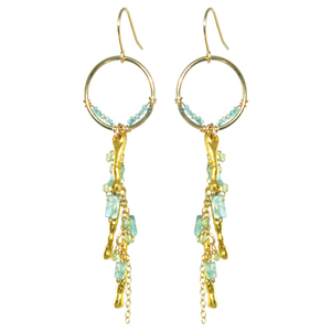 Oscar Jewelry: dangly, turquoise earrings