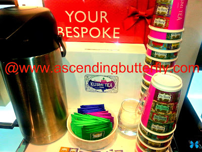 Kusmi Tea Station at Molton Brown London Midtown East Location in New York City for holiday Sniffapalooza