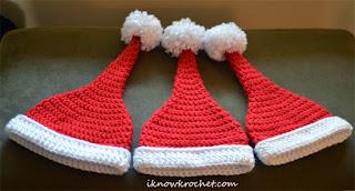 3 Santa hat sizes