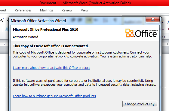 activate microsoft word 2013 product key