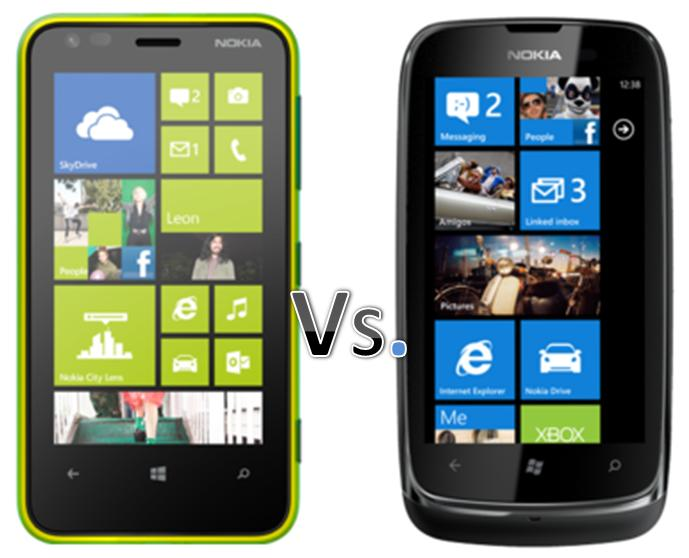 Nokia LUMIA 620 vs LUMIA 610 Price and Specs Comparison