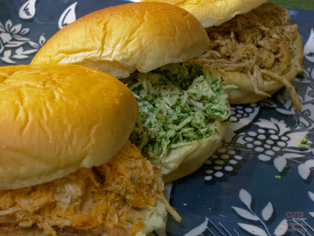Buffalo Chicken, Pesto Chicken, Mustard BBQ chicken