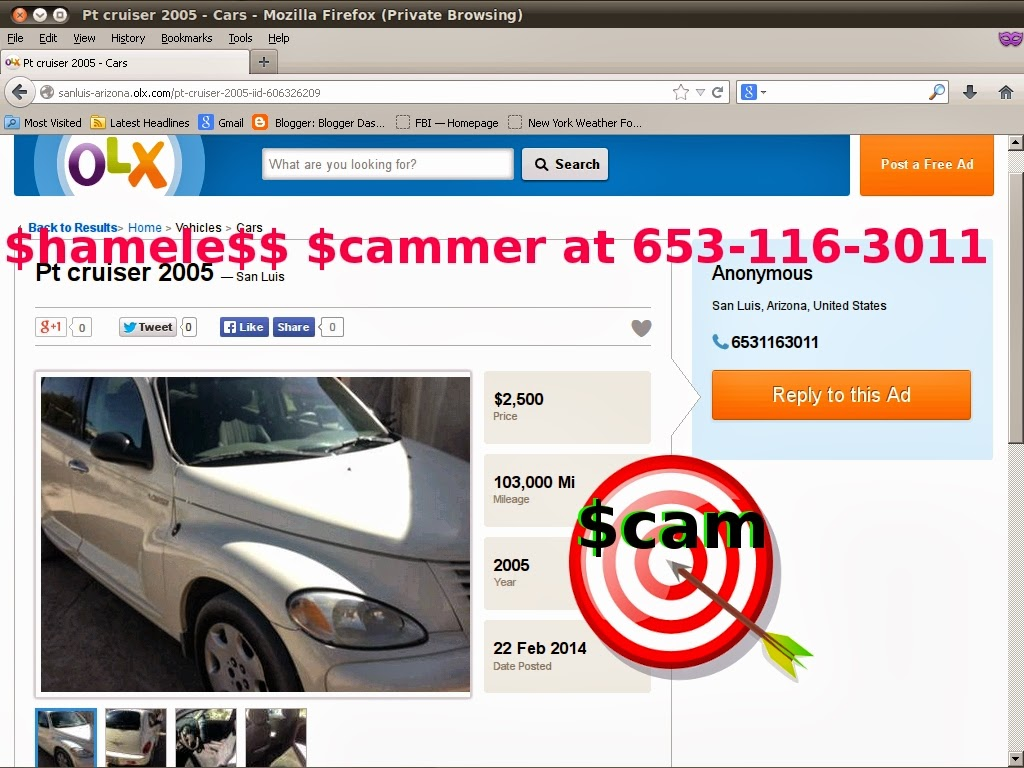 Autotrader, Mitula, OLX and Everywhere Else Too...- SCAM | Vehicle ...