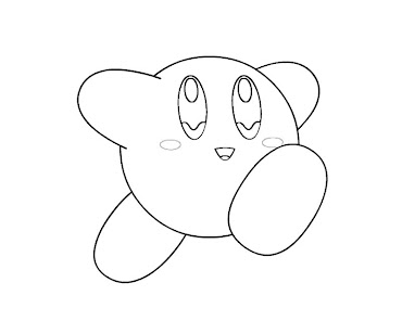 #25 Kirby Coloring Page