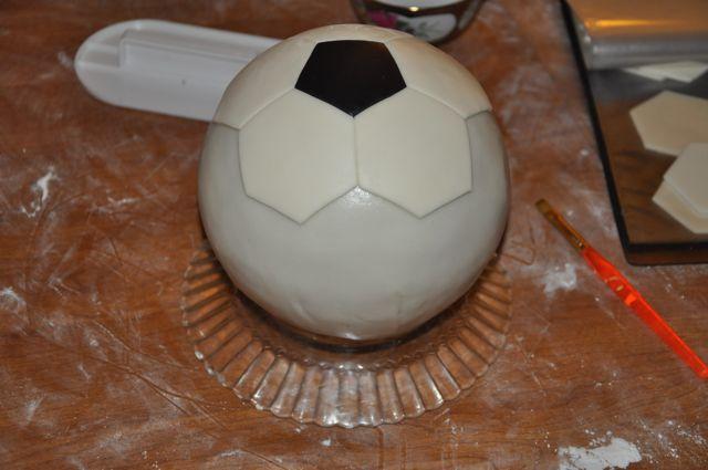 Как сделать торт футбольный мяч своими руками