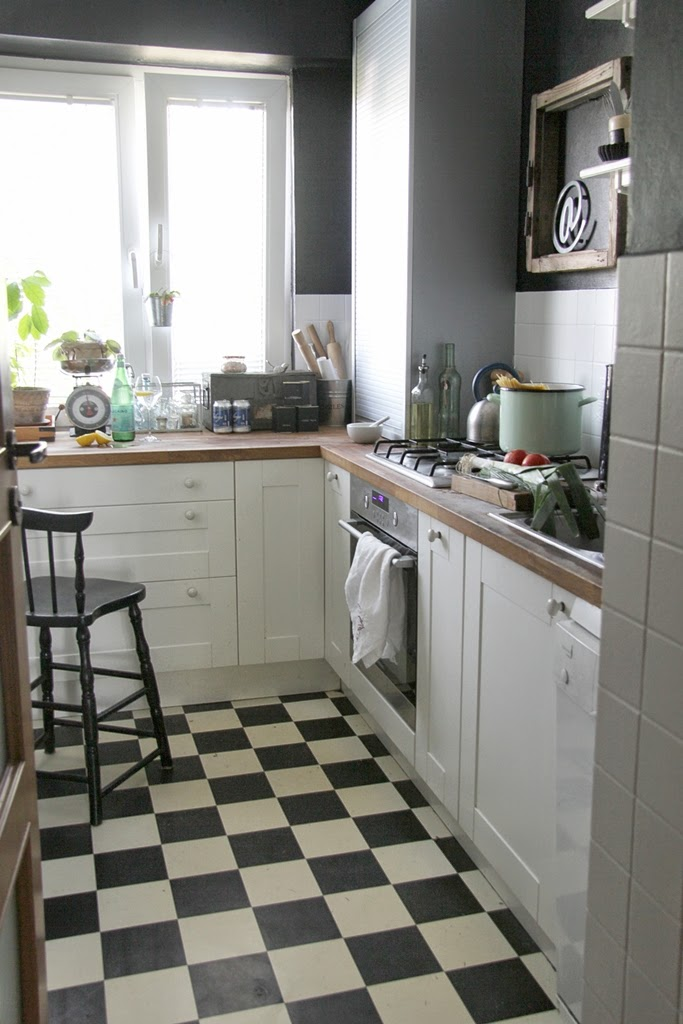 czarno i biało czyli moja kuchnia ~ dom artystyczny