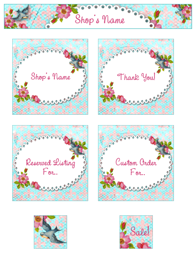 shabby blogs vintage freebie with keren etsy shop banner collection