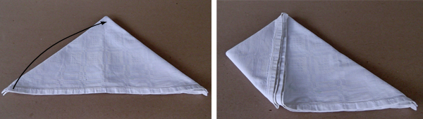 napkin folding tutorials, napkin folding instructions, napkin folding step by step,