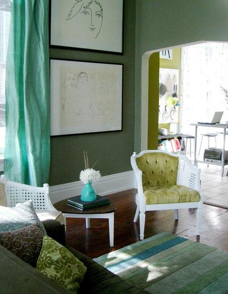 e tu...di che colore vuoi dipingere le pareti? - architettura e ... - Soggiorno Verde E Marrone 2
