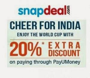 Snapdeal Extra 20% off (no minimum purchase) with PayUMoney upto Rs. 125 with Recommendations