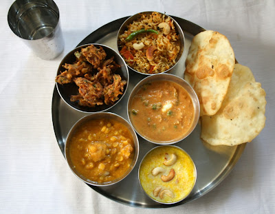 Fried Naan - North Indian Thali