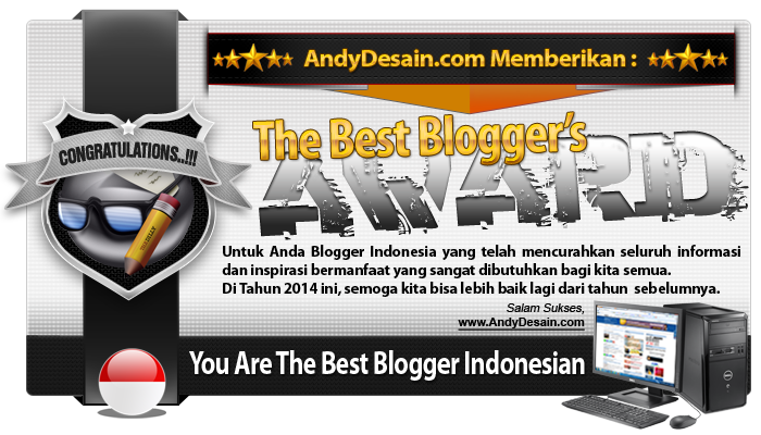 The Best Blogger Award 2014 dari Bang AndyDesain.com