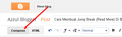 Membuat Jump Break (Read More) Di Blogger