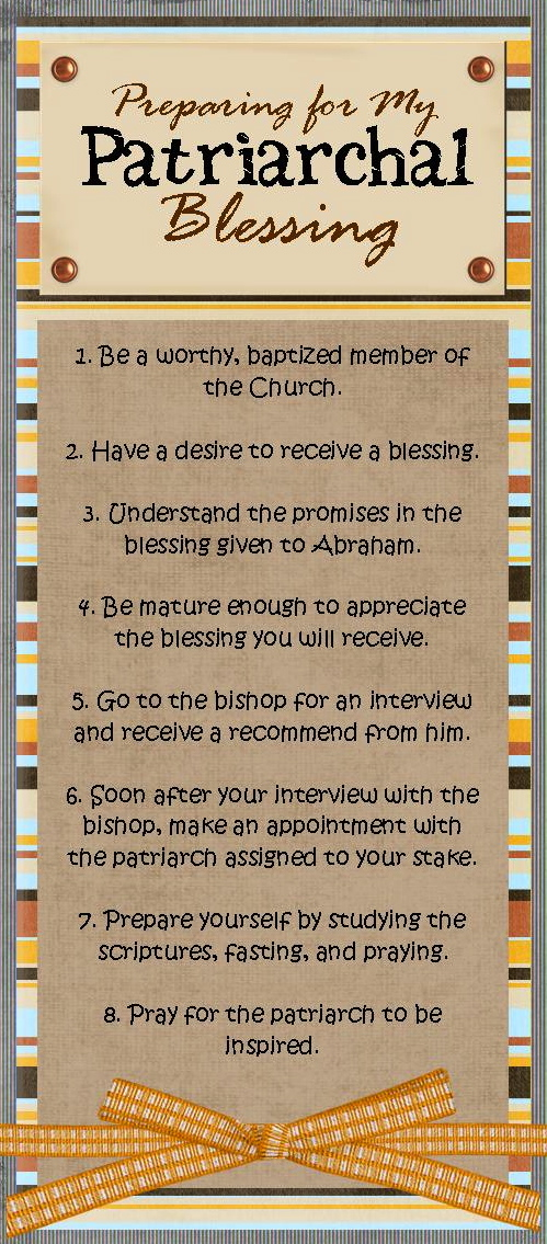 how to get a patriarchal blessing