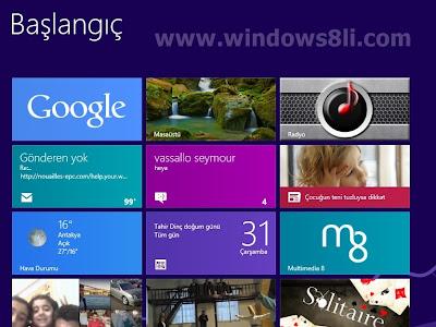 Windows 8 Google Arama Uygulaması