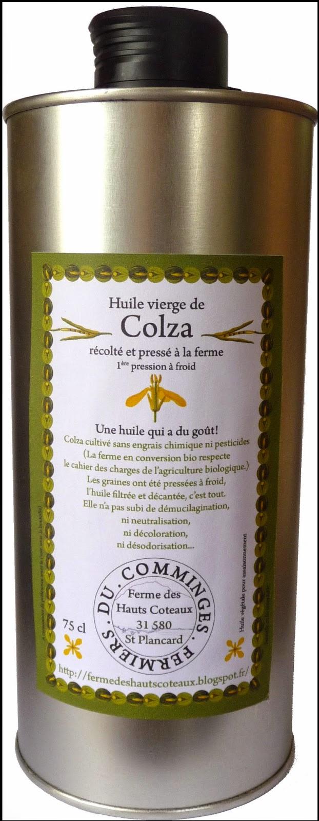 huile colza non raffinee