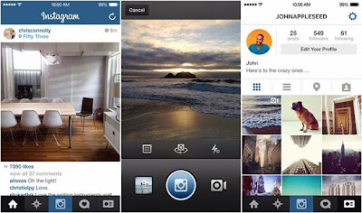 تطبيق أينستاجرام يصدر تحديث لهواتف Iphone بنظام IOS الجديد .