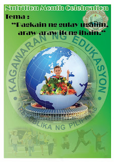 3rd place e-poster making manay nhs during nutrition month program 2012
