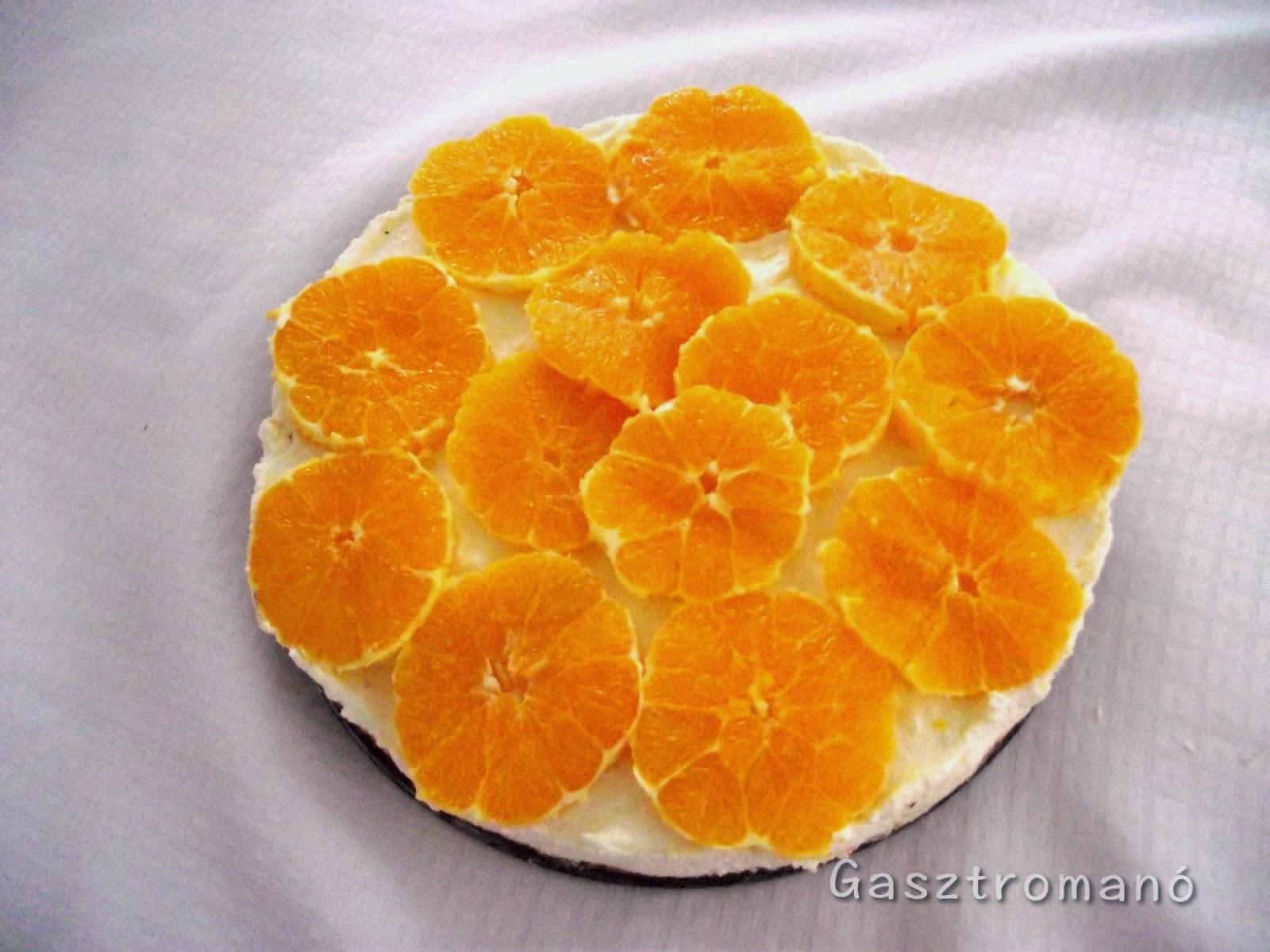 narancsos csokis túrótorta sütés nélkül recept
