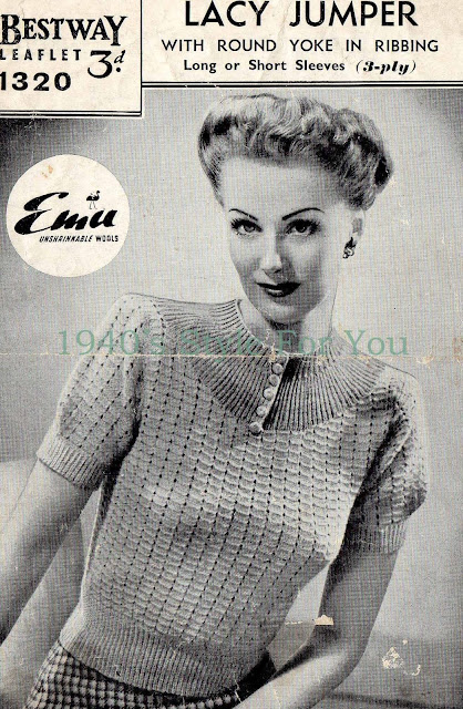 Free 1940's Knitting Pattern - Lacy Jumper Blouse