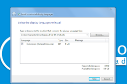 Cara mengubah Windows 7 Menjadi Bahasa Indonesia